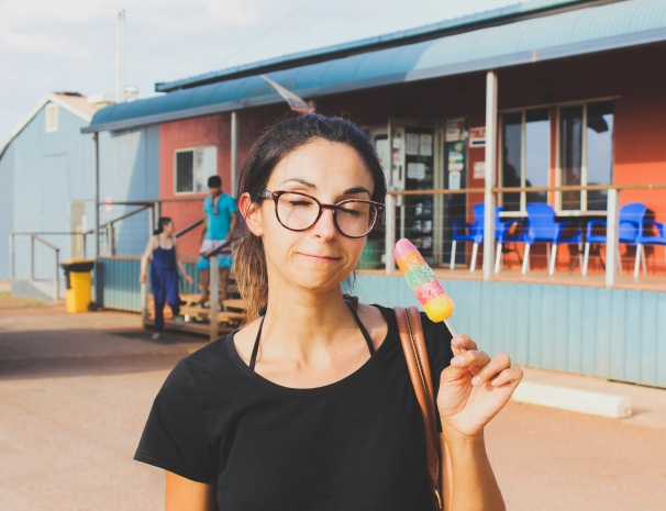 An icecream in the Outback is good twice